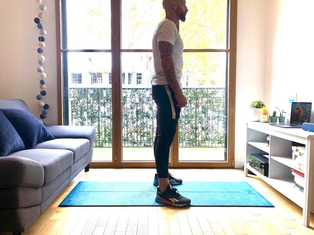 Position de départ d'un squat