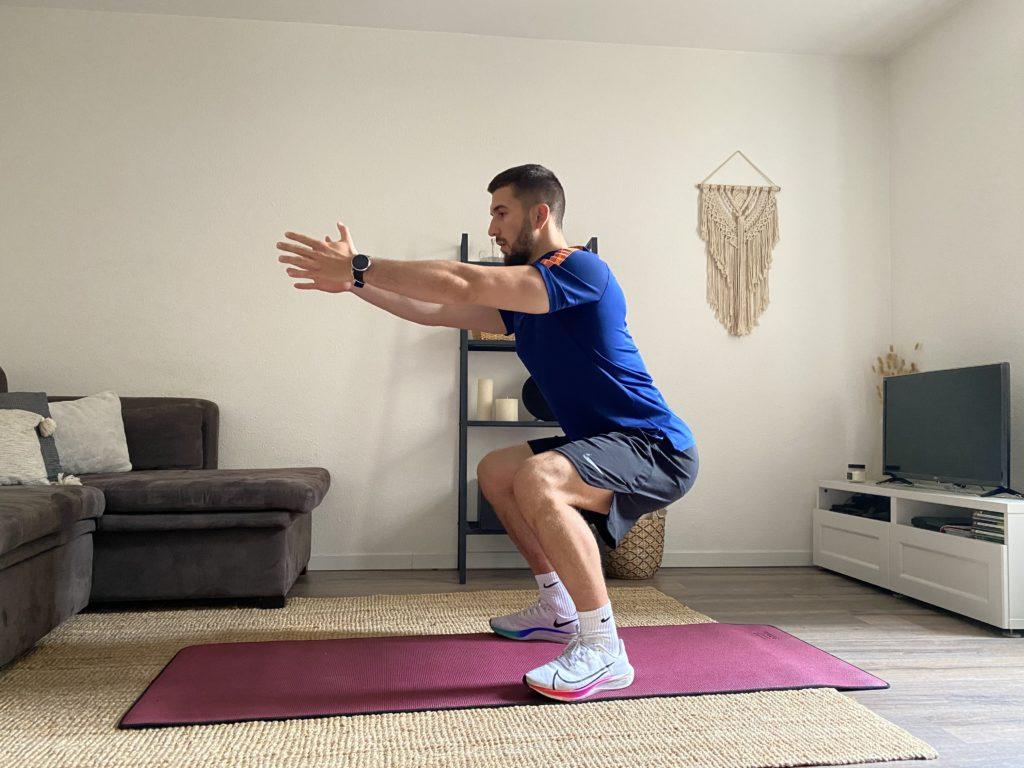 se muscler sans matériel avec les squats